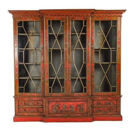 George III Style Chinoiserie Jappaned Bookcase