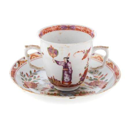 Meissen Porcelain Chinoiserie Cup & Saucer