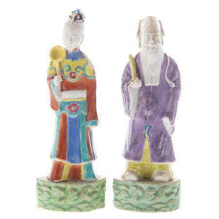 Two Chinese Porcelain Immortal Figures