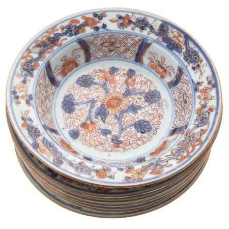 Six Chinese Export Imari Bowls