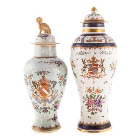 Two Samson Chinese Export Style Jars