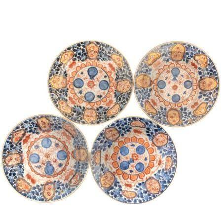 Four Chinese Export Imari Plates