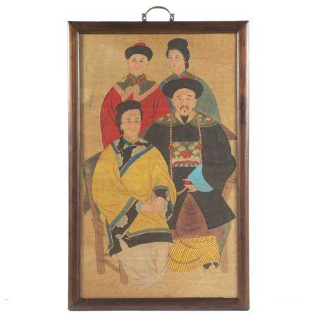 Chinese Ancestral Portrait Group