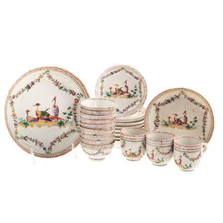 Chinese Export Famille Rose Partial Tea Service