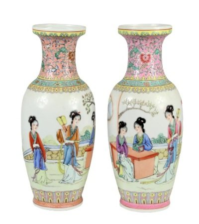 Pair of Chinese Porcelain Vases, Stamped
