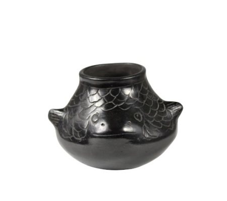 Mexican Blackware Fish Effigy Jar