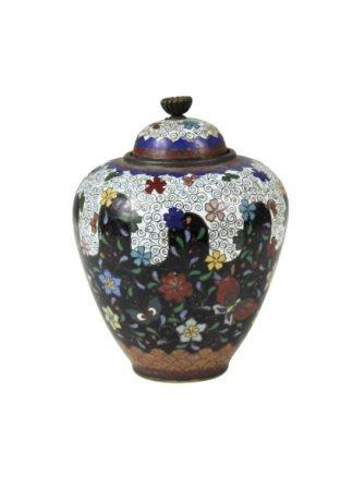 Chinese Maiji Covered Diminutive Carved Vase