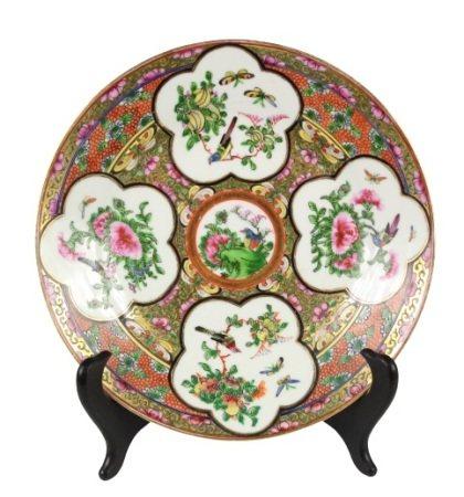 Chinese Porcelain Famile Rose Gilt Plate