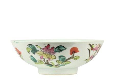 Antique Chinese Porcelain Famille Rose Bowl