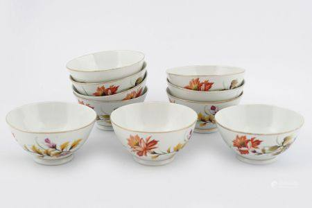 SET OF 10 CHINESE PORCELAIN BOWLS