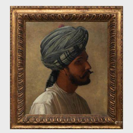 European School: Portrait of a Man in a Turban