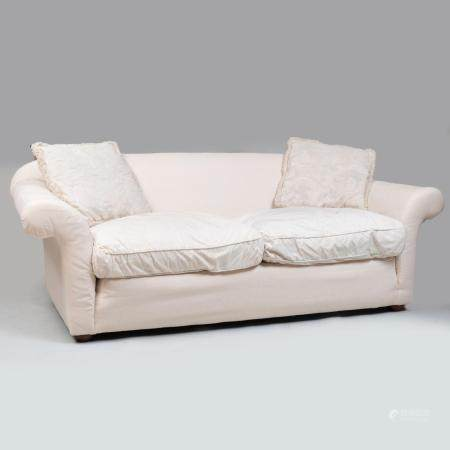 Large Muslin Upholstered Sofa