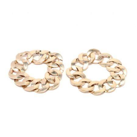 Pair of 14KT Gold Link Bracelets