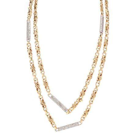 Bi-Color 18KT Gold and Diamond Necklace