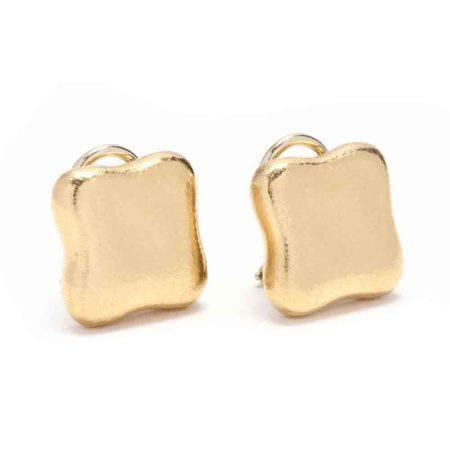 18KT Gold Ear Clips, Angela Cummings