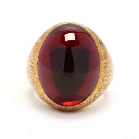 18KT Gold and Rubellite Ring, Henry Dunay