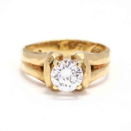18KT Gold and Diamond Engagement Ring, Henry Dunay