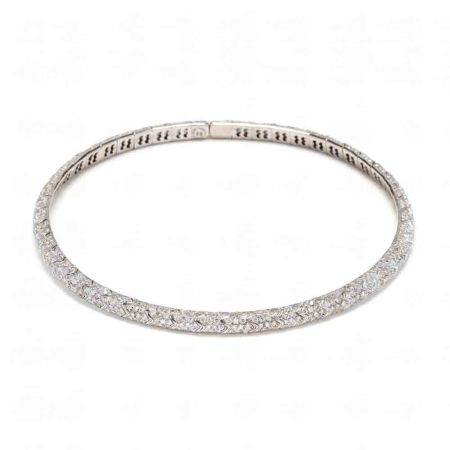 18KT White Gold and Diamond Choker Necklace