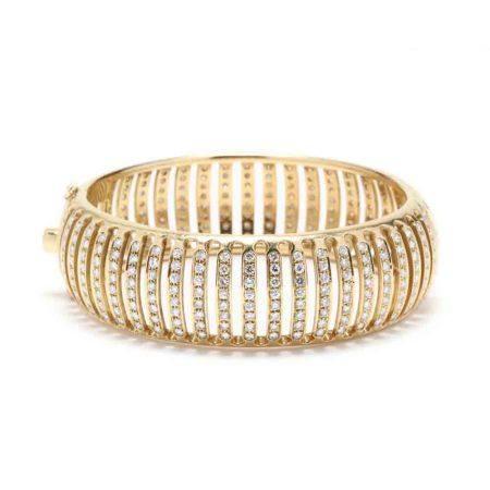 18KT Gold and Diamond Bracelet, Italy