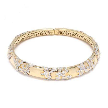 Bi-Color Gold and Diamond Choker Necklace