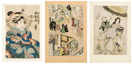 Kikugawa Eizan (1787-1867), Utagawa Kunisada (1786-1865) et artiste inconnu, Le monde [...]