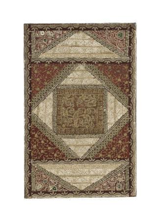 Broderie zardozi montée sur châssis, Inde, probablement Uttar Pradesh, XIXe-XXe s., [...]