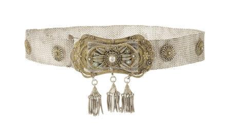 Ceinture en argent et filigrane, Empire ottoman, fermoir en filigrane, orné de [...]