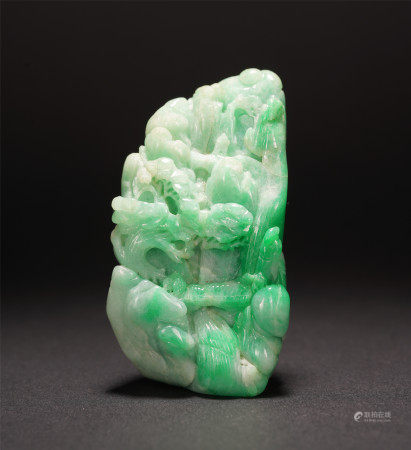 A CHINESE CARVING JADEITE TABLE ITEM