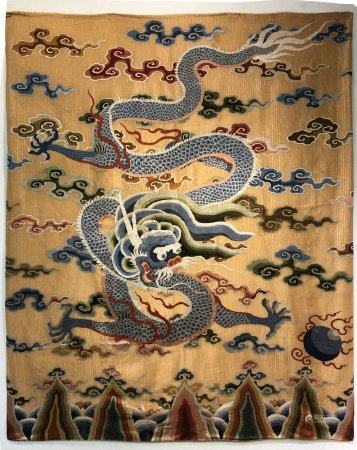 Qing dynasty embroidery dragon