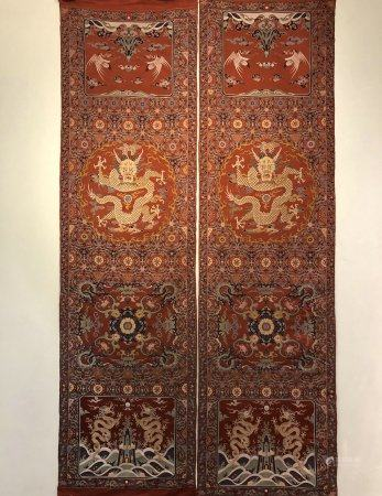 Qing dynasty chair cover