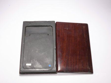 Qing dynasty Inkstone and wood box