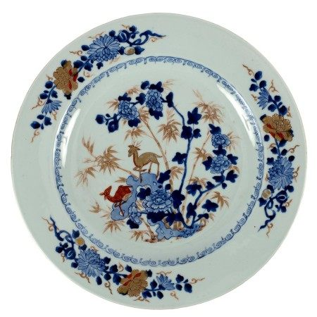 A Chinese export blue and white charger, Qianlong circa 1740,