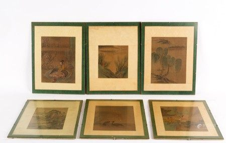 Six Chinese paintings,