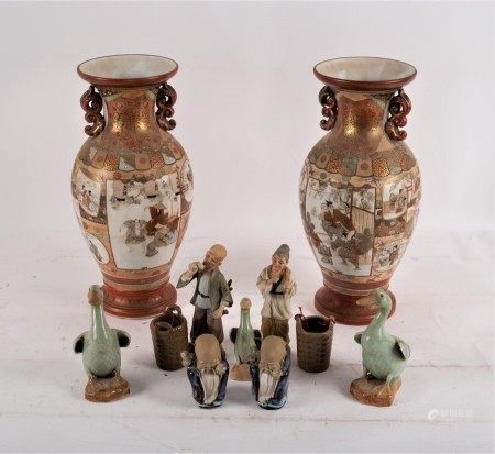 Various Chinese pottery figures,