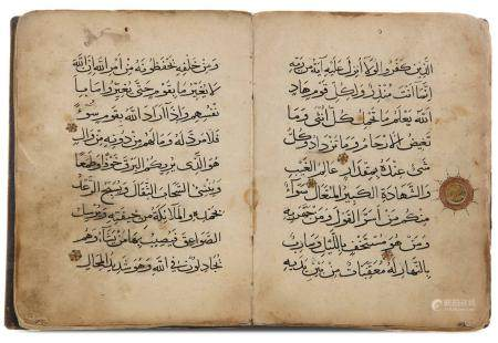 A SECTION OF A MAMLUK QURAN JUZ' EGYPT OR SYRIA, 14TH 15TH CENTURY