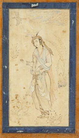 A PERSIAN MINIATURE OF A YOUTH 20TH CENTURY