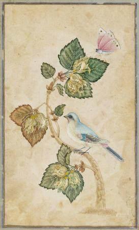 A MUGHAL STYLE MINIATURE OF A BIRD