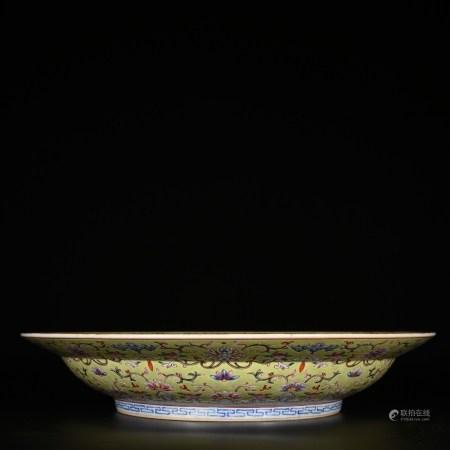 Jiaqing of Qing Dynasty           Pastel folding plate