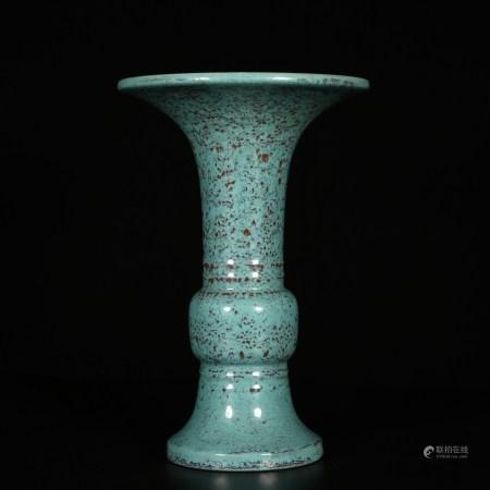 Qianlong of Qing Dynasty       Glazed goblet