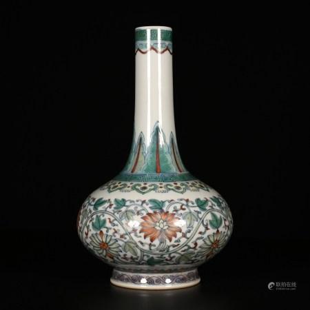 Yongzheng of Qing Dynasty    Long necked bottle