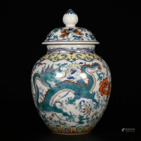 Qianlong of Qing Dynasty            Dragon design jar