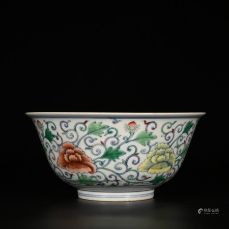 Kangxi of Qing Dynasty            Color bowl