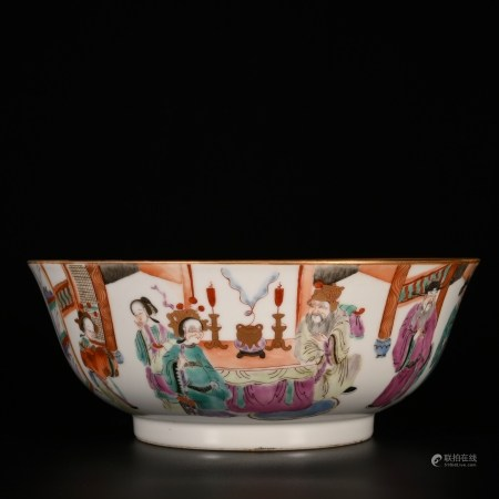 Xianfeng in Qing Dynasty            Famille rose bowl