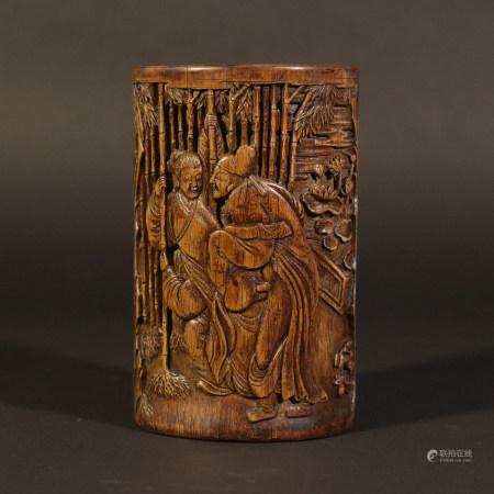Bamboo carving pen holder