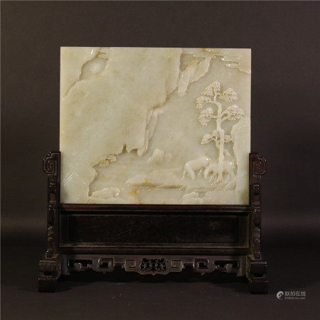 White jade screen