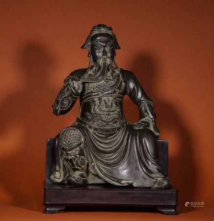A CHINESE VINTAGE BRONZE BUDDHA STATUE