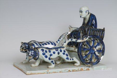 A Blue And White Porcelain Statue,Yuan Dynasty