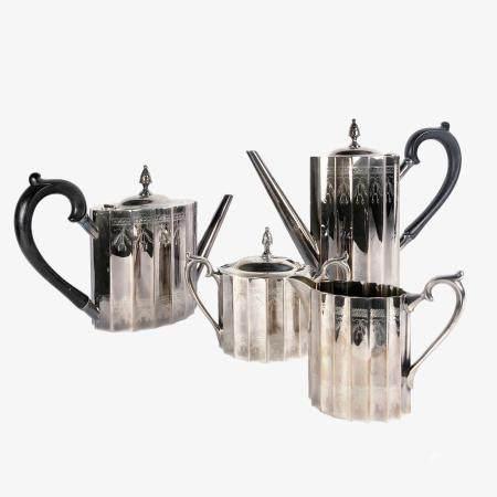 """Lunt """"Paul Revere"""" Silver Coffee & Tea Service"""