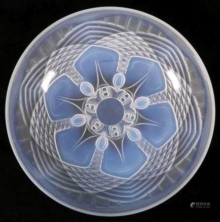 Art Deco Opalescent Glass Center Bowl, Circa 1930