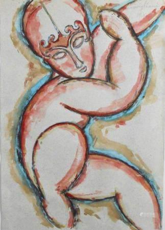 Amedeo Modigliani (1884-1920) Watercolor & Ink